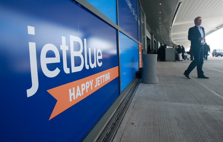 <p>The JetBlue terminal at John F. Kennedy International Airport in the Queens borough of New York City.</p>