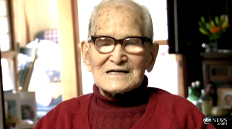 <p>Jirouemon Kimura — Japan's oldest person and the world's oldest man — turned 115 on April 19, 2012.</p>