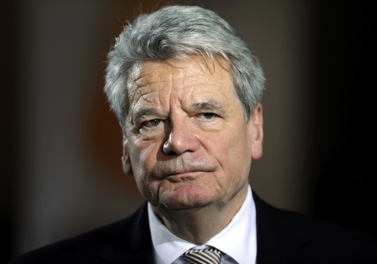 <p>German President Joachim Gauck, after being elected in the German lower house of parliament  on March 18, 2012.</p>