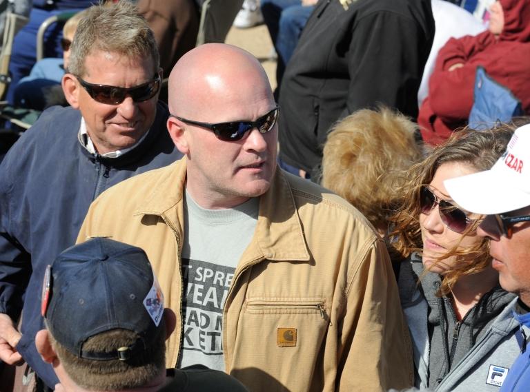 <p>Samuel Joseph 'Joe the Plumber' Wurzelbacher at a Tea Party rally in Searchlight, Nev., on Mar. 27, 2010.</p>