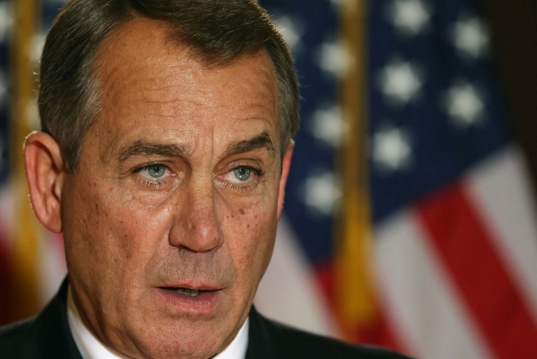 <p>John Boehner makes a statement Dec. 19, 2012 in Washington, DC.</p>