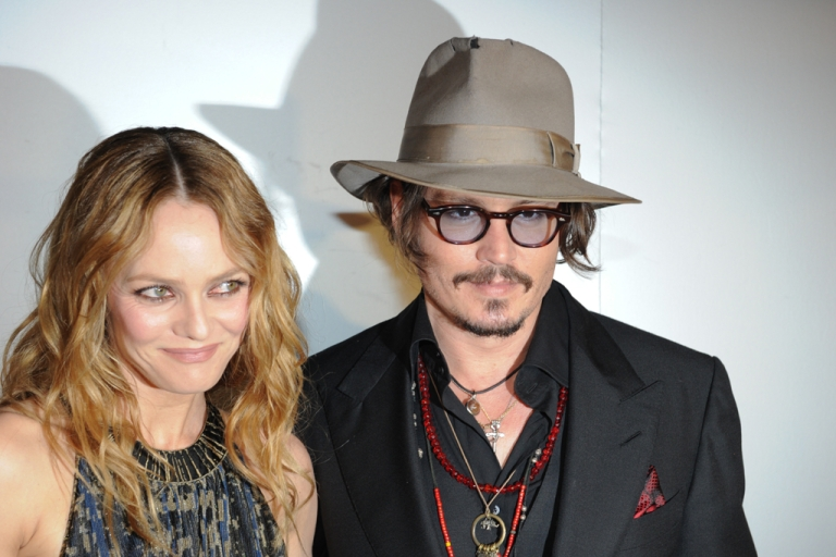 <p>French actress Vanessa Paradis and her husband, actor Johnny Depp, arrive to attend the Figaro Madame/Chanel dinner during the 63rd Cannes Film Festival on May 18, 2010 in Cannes.</p>