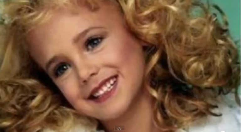 <p>JonBenet Ramsey, the child beauty pageant queen who was murdered in her home in Boulder, Colorado in 1996.</p>
