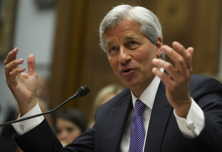 <p>JPMorgan Chase CEO Jamie Dimon testifies during a US House Financial Services Committee hearing on Capitol Hill in Washington, DC, on June 19, 2012, about the investment bank's trading loss.</p>