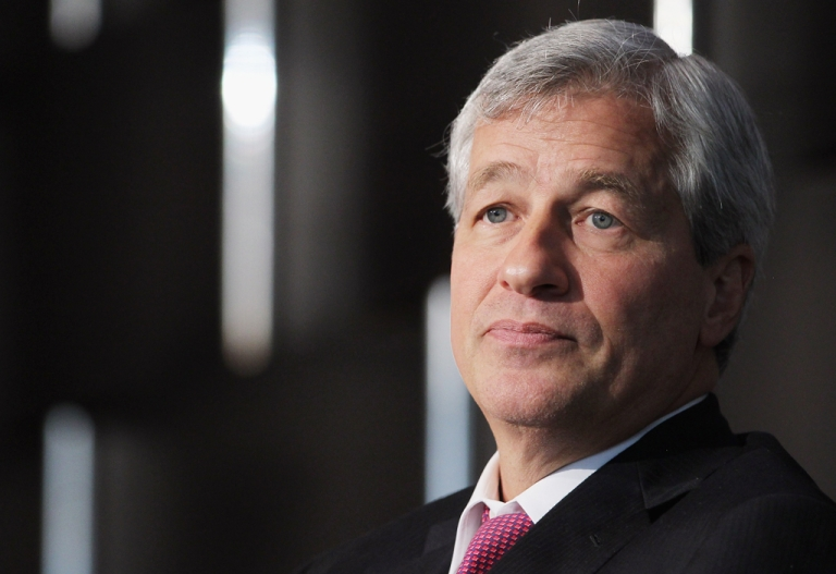 <p>JPMorgan Chase &amp; Co. chairman and CEO Jamie Dimon looks on while speaking at Simon Graduate School of Business at the University of Rochester's New York City Conference on May 3, 2012 in New York City. JP Morgan Chase agreed to pay $920 million in fines over the bad bet by the trader known as the 'London Whale'.</p>