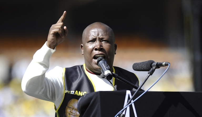 <p>Julius Malema, leader of South Africa's ruling African National Congress (ANC) youth league, has been suspended from the party for five years and will have to give up his position as ANCYL president. A party disciplinary committee announced Feb. 4, 2012, that Malema's appeal of his suspension had failed.</p>