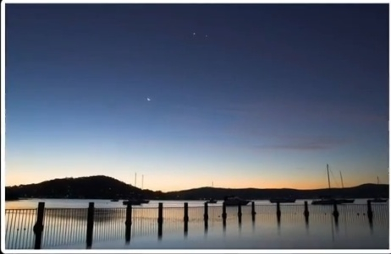 <p>Jupiter, Venus and the Moon will form a triangle in the night sky on Feb. 26 and 27.</p>