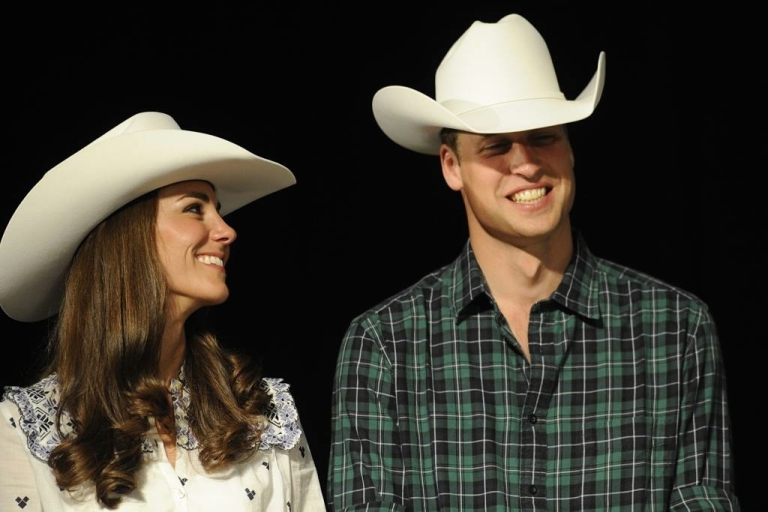 <p>Kate looks lovingly at her new husband, Will, during a rodeo in Calgary, Canada on July 7, 2011.</p>