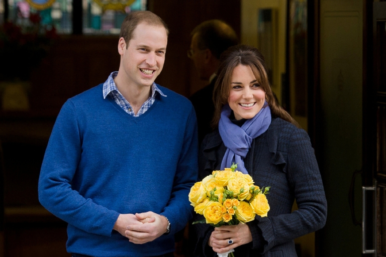 <p>Prince William and and his wife Kate Dec. 6, 2012 outside King Edward VII hospital in London.</p>