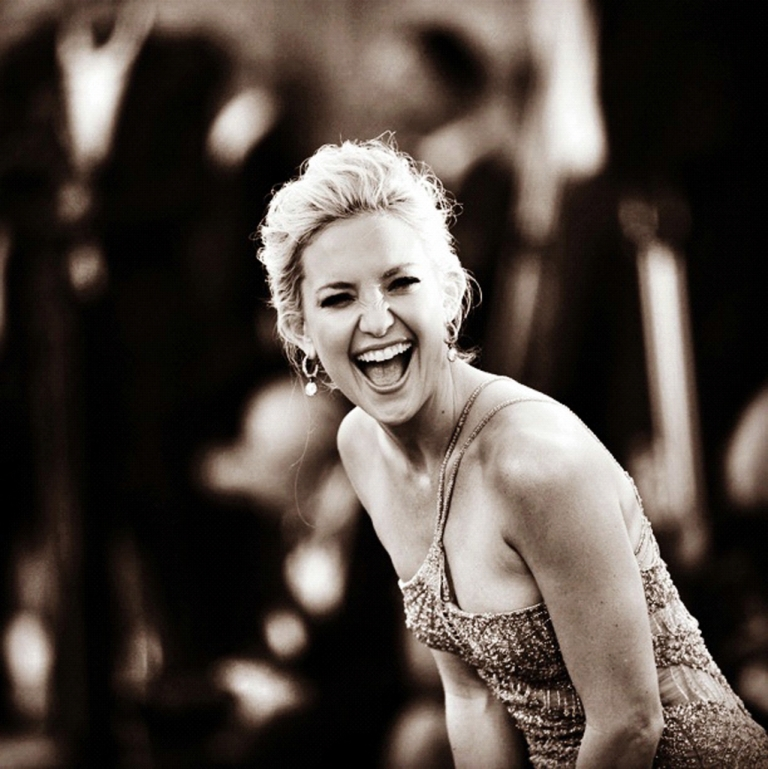 <p>Actress Kate Hudson cracking up during the 69th Venice International Film Festival at Palazzo del Cinema on August 29, 2012 in Venice, Italy.</p>