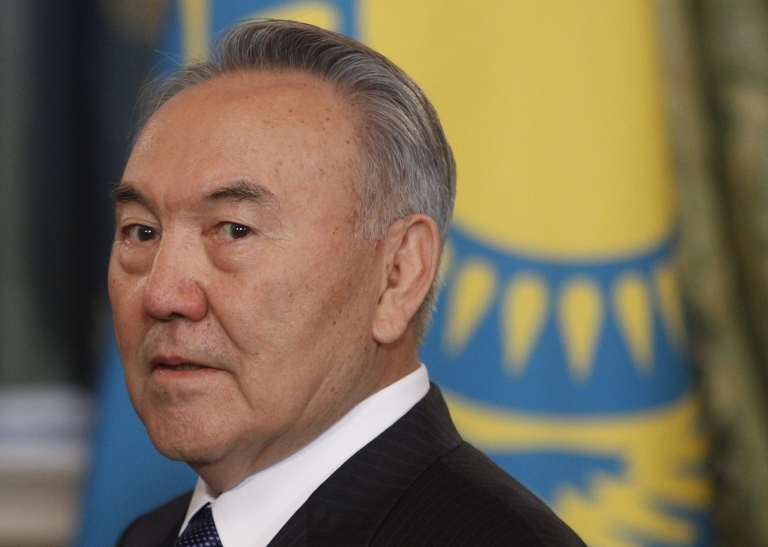 <p>Kazakhstan's President Nursultan Nazarbayev attends a meeting at the Moscow Kremlin on Dec. 19, 2011.</p>
