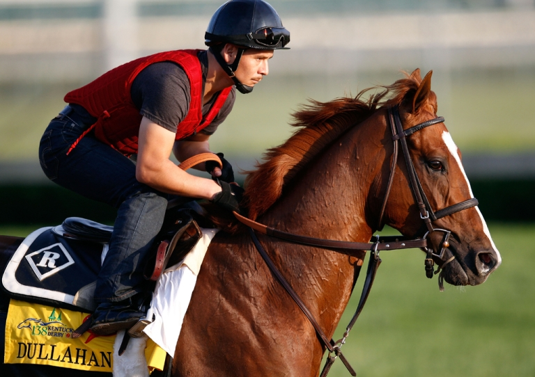 <p>Dullahan trains on the track in preparation for the 138th Kentucky Derby at Churchill Downs at Churchill Downs on May 4, 2012 in Louisville, Kentucky.</p>