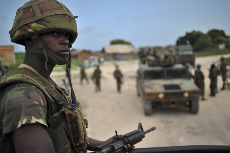 <p>Hundreds of Kenyan troops crossed into neighboring Somalia in October to pursue the hardline militants it blames for a spate of attacks and kidnappings inside Kenya's borders.</p>