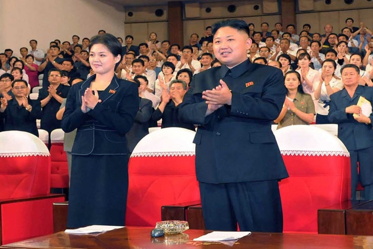 <p>North Korean leader Kim Jong Un, accompanied by his new wife, Hyon Song-wol, enjoying a demonstration performance given by the newly organized Moranbong band in Pyongyang. Still, they've got nothing on Bochonbo Electronic Music Band.</p>