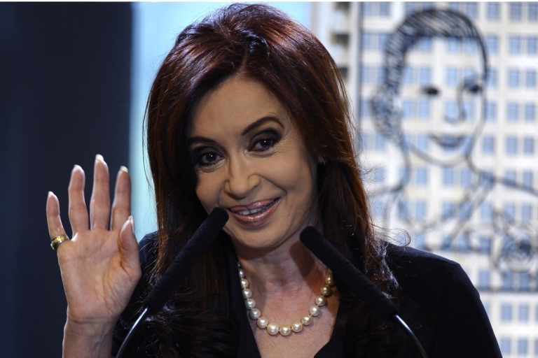 <p>Kirchner, before Wednesday's operation.</p>