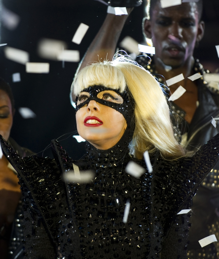 <p>Lady Gaga performs during the New Year's Eve celebration in Times Square December 31, 2011 in New York. Gaga launched her Born This Way Foundation at Harvard on Wednesday, which aims to promote kindness and decrease bullying.</p>