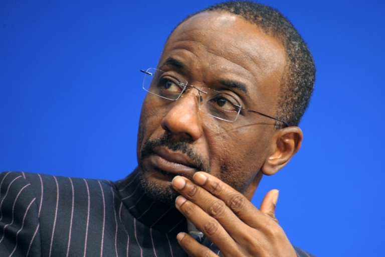 <p>Nigeria's Central Bank Governor Lamido Sanusi has been named Africa's Person of the Year by Forbes Magazine. Here Sanusi attends a session at the 10th International Economic Forum on Africa held at the French Economy ministry in Paris on June 11, 2010.</p>