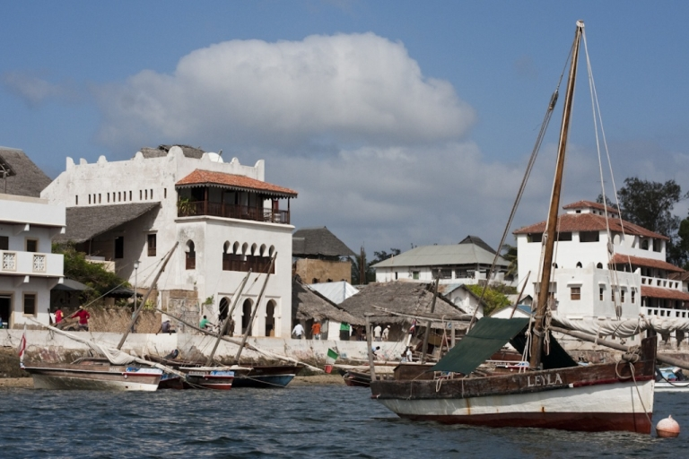 <p>The waterfront in historic Lamu Town, off the coast of Kenya.</p>