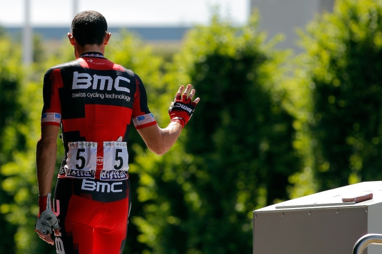 <p>George Hincapie of the USA riding for BMC Racing signs in for stage five of the 2012 Tour de France from Rouen to Saint-Quentin on July 5, 2012 in Rouen, France. It is reported that Hincapie and four others have agreed to give evidence to the US Anti Doping Agency in the latest investigation of Lance Armstrong.</p>