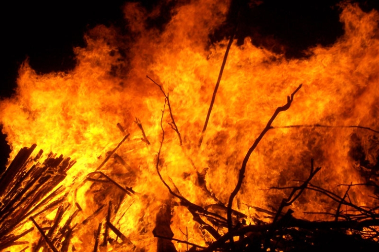<p>Parts of South Africa's wine region are up in flames, with wildfires destroying over 7,000 hectares of land in the last three days.</p>