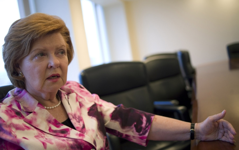<p>Vaira Vike-Freiberga, the former President of Latvia.</p>