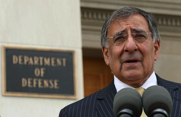 <p>Secretary of Defense Leon Panetta speaks to the media at the Pentagon on September 30, 2011, in Arlington, Virginia.</p>
