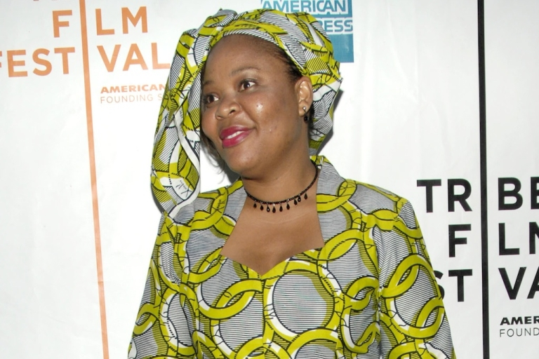 <p>Nobel Peace Prize winner Leymah Gbowee is shown here attending the premiere of the documentary