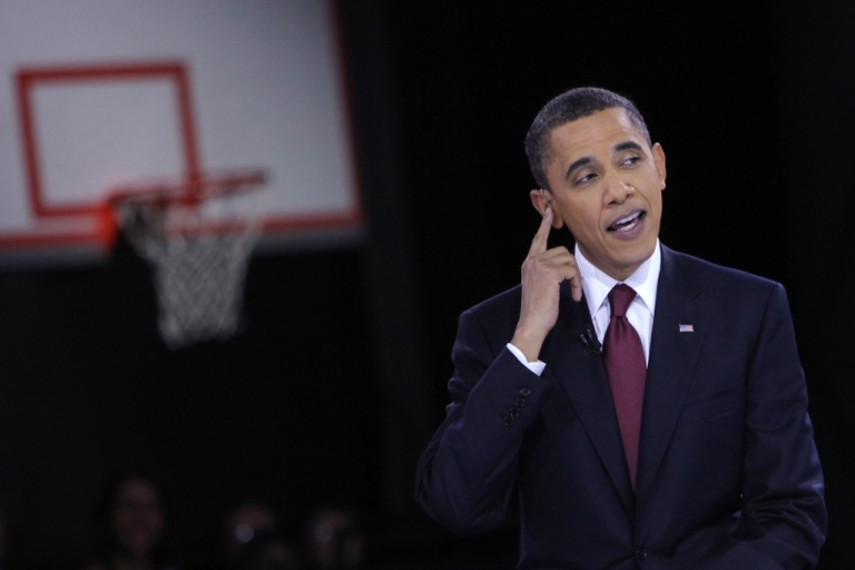 <p>U.S. President Barack Obama participates in an education town hall hosted by Univision Bell Multicultural High School in Washington, DC.</p>