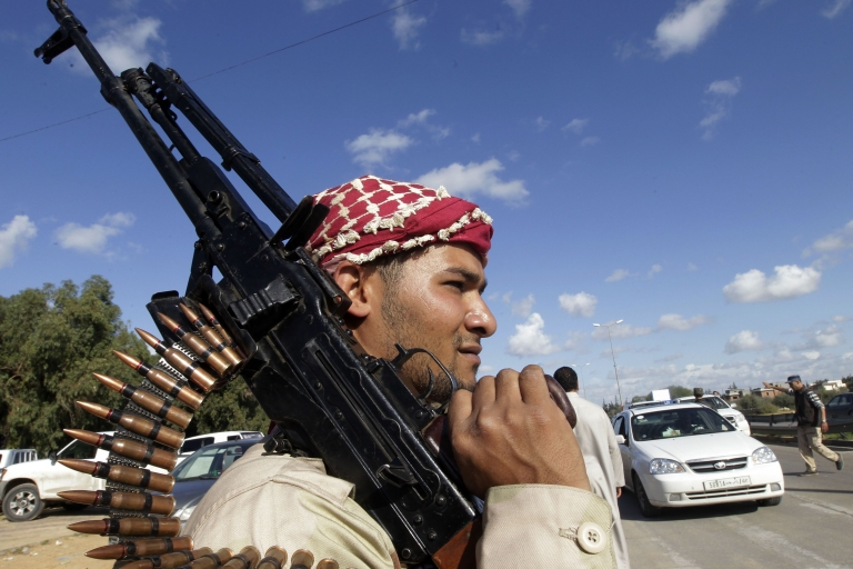 <p>Libya's new government is struggling to rein in armed groups contesting power in the wake of dictator Colonel Muammar Gaddafi's fall in October.</p>