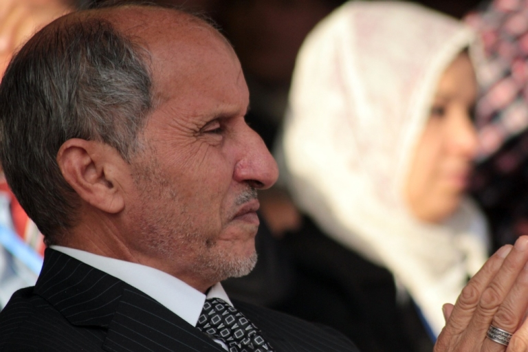 <p>Libyan National Transitional Council leader Mustafa Abdel Jalil attends a ceremony announcing the liberation for the country in the eastern city of Benghazi on Oct. 23, 2011, three days after ousted despot Muammar Gaddafi was captured and killed.</p>
