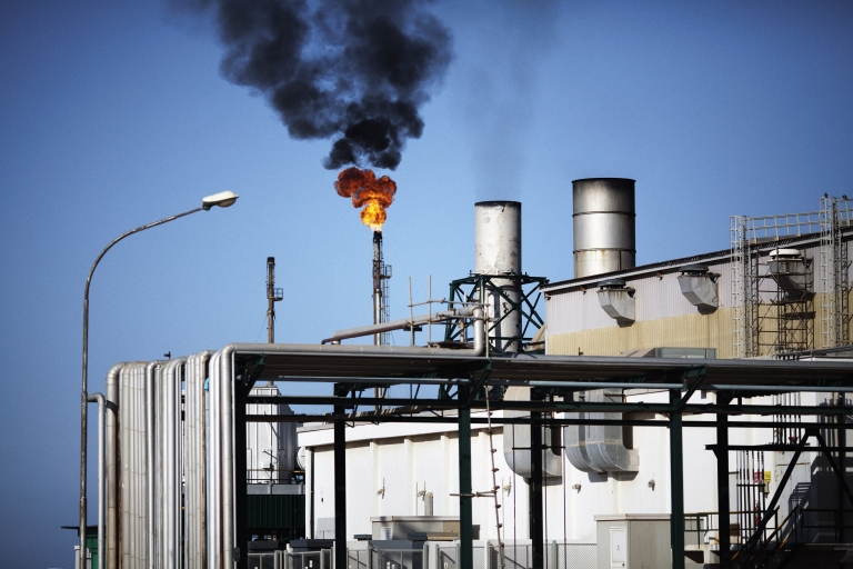 <p>The Zawiya Oil Refinery, some 40 kms west of Tripoli, refined gasoline throughout the conflict, only pausing briefly when the rebels arrived at its gates.</p>