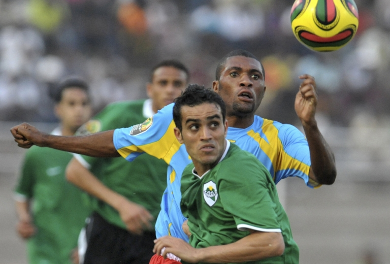 <p>Libya's national soccer team plays the Democratic Republic of Congo on February 23, 2009 during the first African Nations Championship tournament held in Ivory Coast. There are reports that members of Libya's national soccer team have defected to the rebels.</p>