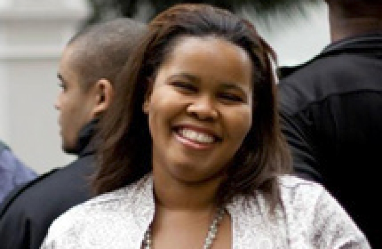 <p>South Africa's opposition Democratic Alliance (DA) party on October 27, 2011 elected its first black parliamentary leader, Lindiwe Mazibuko.</p>