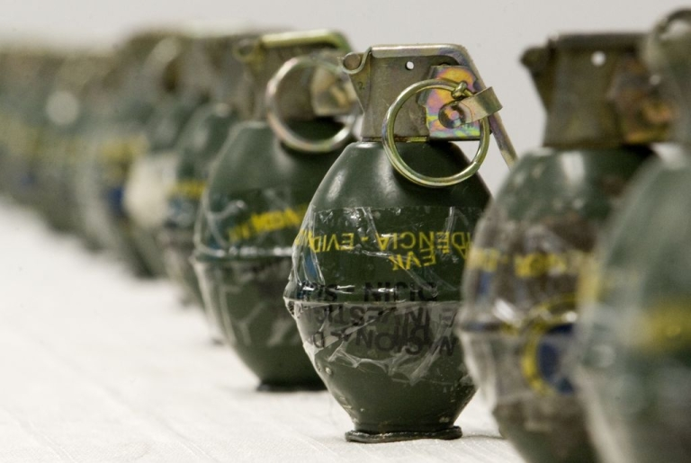 <p>These are not toys, but live hand grenades seized by police in Colombia on October 28, 2011.</p>
