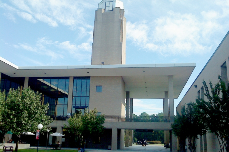 <p>The library at the Lone Star College North Harris campus in Houston.</p>