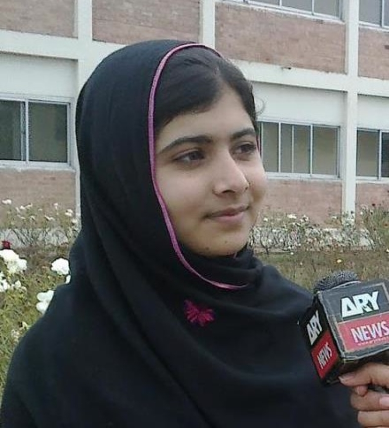 <p>Malala Yousufzai is shown in a picture from her Facebook page.</p>