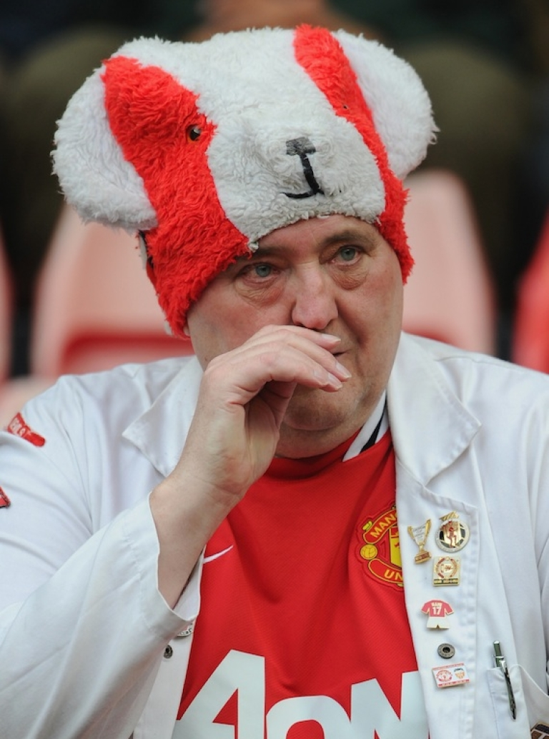 <p>An unhappy Manchester United fan.</p>