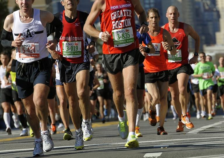 <p>Runners in the 2011 ING New York City Marathon in New York on Nov. 6, 2011.</p>