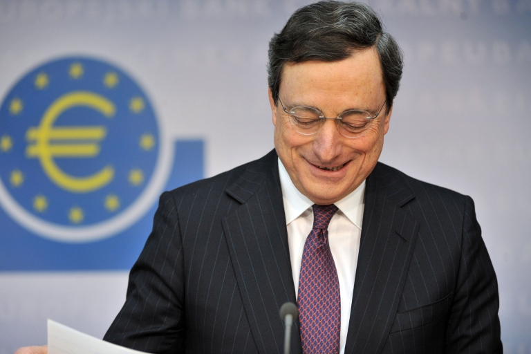 <p>ECB President Mario Draghi is credited with having staved off a credit crunch and calming financial markets by making more than half of a trillion euros worth of cheap three-year loans available to hundreds of banks across the EU in December and February.</p>