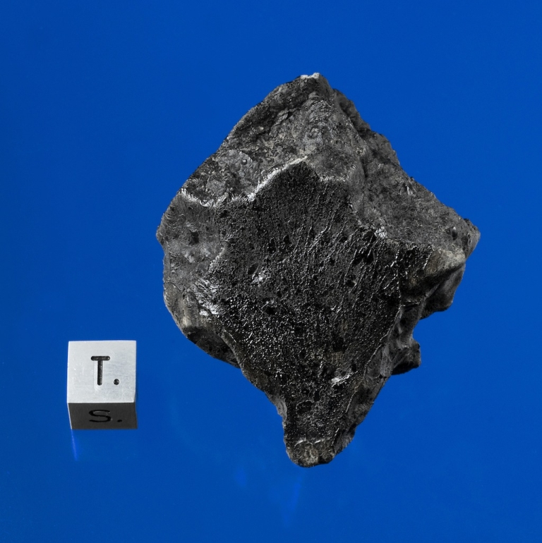 <p>Here is a sample of the first Martian meteorite (specimens of the planet Mars) known to have struck Earth in 49 years.  Recovered in December 2011 after falling near Foumzgit, Morocco in July 2011.</p>