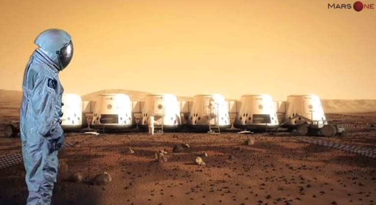 <p>Screenshot from the promotional video for the Mars One mission.</p>