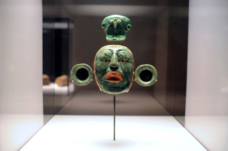 <p>Mayan artefacts: pretty freaky. This isn't Quauthemoc, the