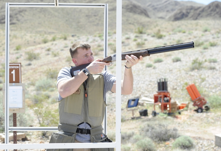 <p>Former United States Marine Dakota Meyer attends the NRA Country/ACM Celebrity Shoot hosted at Nellis Air Force Base in Las Vegas, Nevada. On September 15, 2011, Meyer will receive the Medal of Honor from U.S. President Barack Obama.</p>