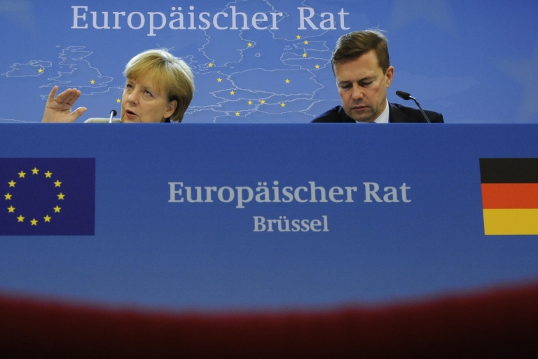 <p>Merkel said EU leaders had agreed on a plan for greater euro zone integration, but key divisions remain over concrete steps.</p>