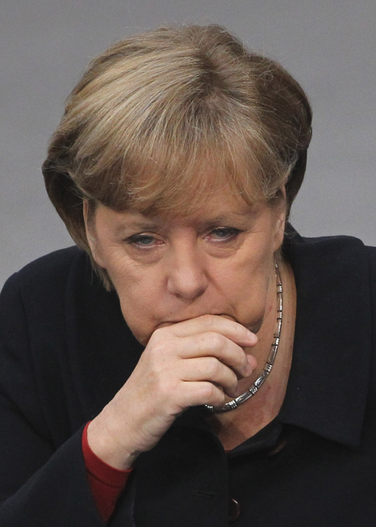 <p>Angela Merkel prepares to tell the German Bundestag the only way out of the euro mess is through deeper fiscal ties with their more profligate European partners.</p>