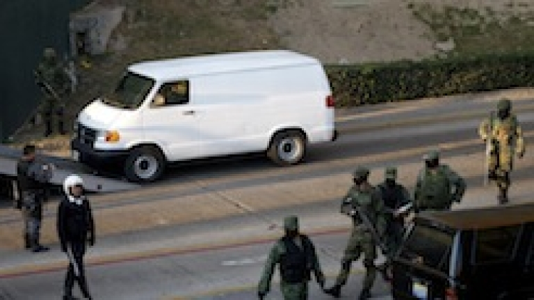 <p>Mexican soldiers fighting the war on drugs</p>