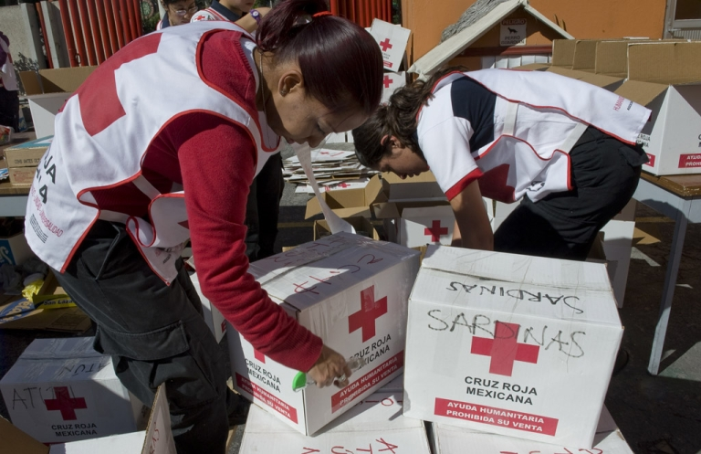 <p>Members of the Mexican Red Cross have made several excursions to Mexico's northern mountain region, where indigenous tribes are suffering severe food shortages.</p>