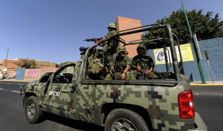 <p>Mexican soldiers have played a key role in the war on drugs.</p>