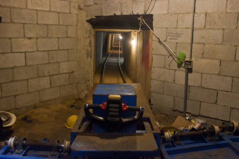<p>Magic tunnel: Put drugs in one end in Tijuana, Mexico, and zoom through the tunnel! The package arrives in San Diego, California. Mexican authorities found this tunnel in November 2011. Dozens of others have popped up over the years.</p>