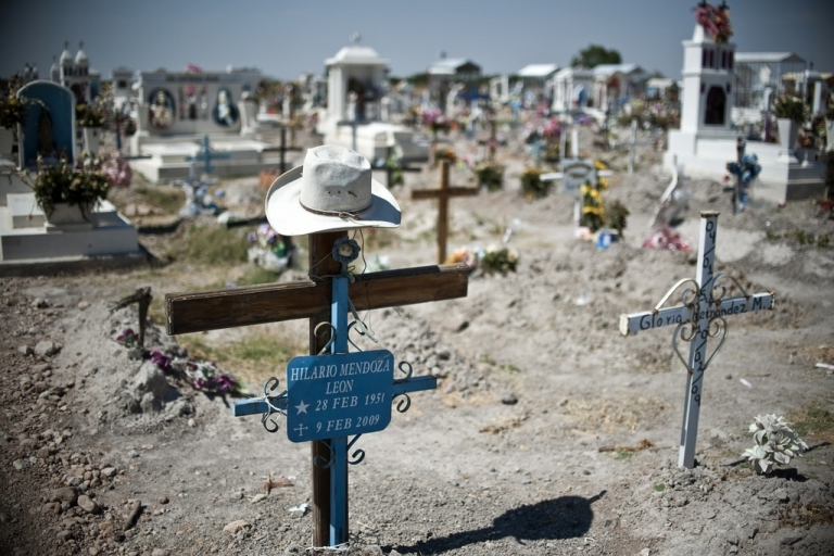 <p>A cemetery in Durango, where drug war victims are buried, May 16, 2011.</p>